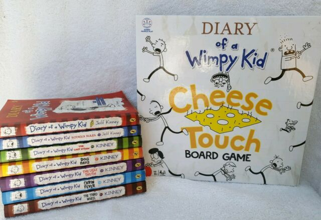 7 Diary of a Wimpy Kid books + board game 1 2 3 4 5 6  Rodrick Rules Last Straw