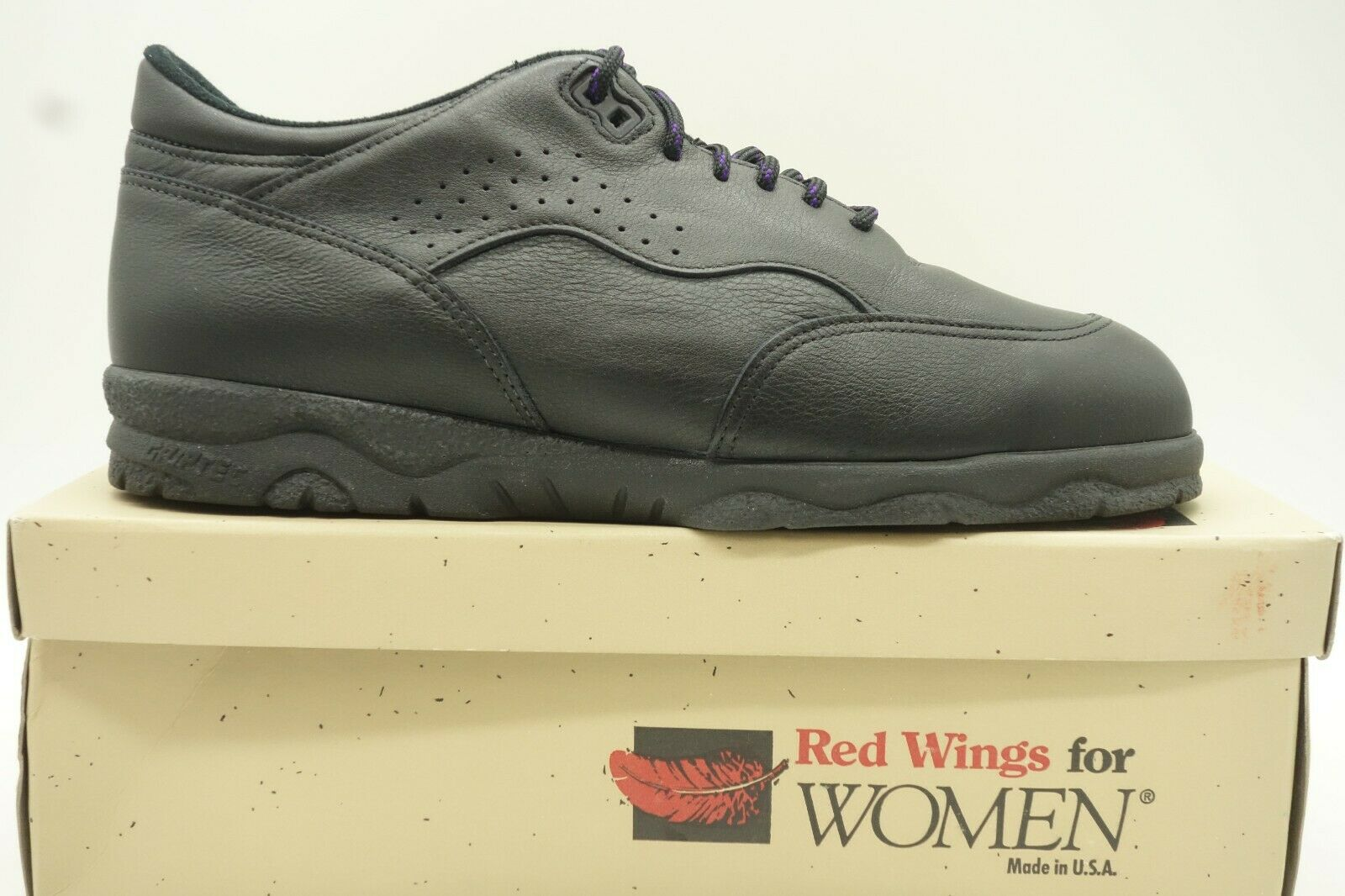 Red Wing shoes Black Leather Steel Toe Work Work Work Sneaker shoes Womens 9 D ea9254