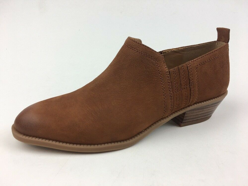 Franco Sarto Rue Leather Ankle Booties, Women's Size 7M, Cognac  493