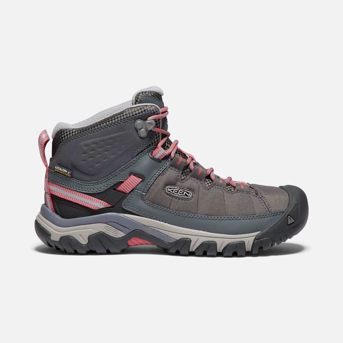 Womens New Keen Targhee II Exp Mid WP Boots shoes Size 9.5 color Magnet Teaberry