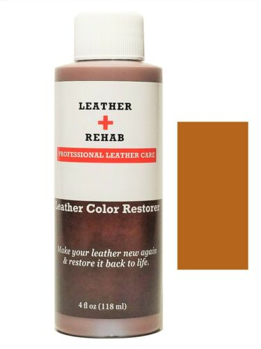 Leather Rehab Color Restorer Car Leather Repair Couch Light Brown Walnut No Kit