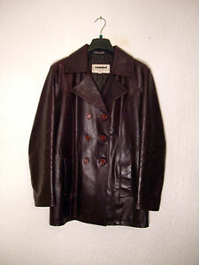 Sz46 Pelle Coat Bordeaux Eggplant Usato Vera giacca Leather Viola Woman Purple xgzIqwz0