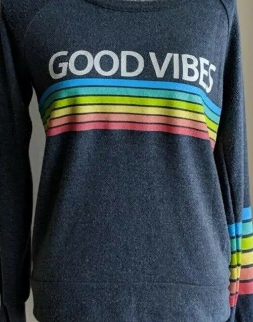 Chaser Sweatshirt Tags Good Vibes New WO Tags Sweatshirt Sz Small 64770d