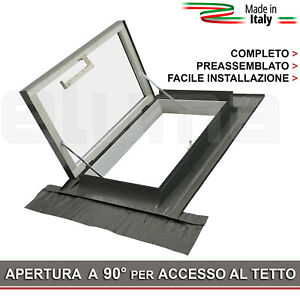 Lucernario-Finestra-per-uscita-sul-tetto-CLASSIC-LIBRO-55x78-Bonus-Fiscali