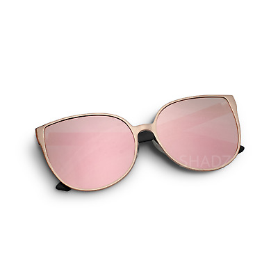 "Sunglasses ""BARBIE"" Pink Princess Metal Cat Eye Oversized Mirror Lens Women ASTR"