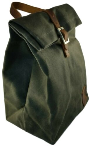 Reusable Thermal Insulated Lunch Bag with handle Waterproof ... Waxed Canvas