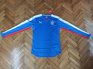 Glasgow Rangers Soccer Jersey Scotland Top Football Shirt Trikot RARE SAMPLE  LS