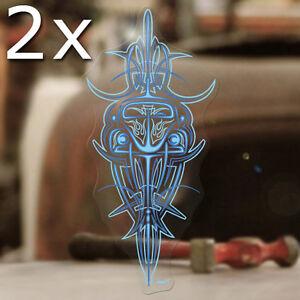 2x Pièce Bug Pinstriping Sticker Autocollant Autocollante Coccinelle Cox Airccoled Bleu-afficher Le Titre D'origine