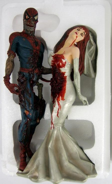 Rara Marvel Comics Spiderman Mary Jane Zombie Estatua Figura 2379 0F 2500 Ltd cert. de autenticidad
