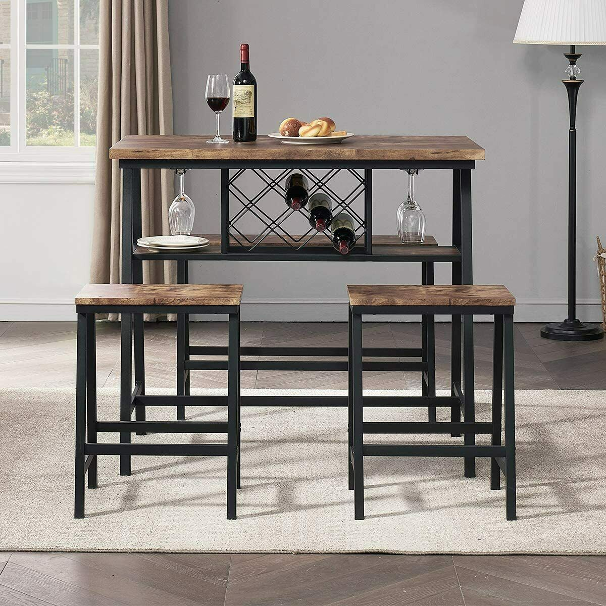 O K Furniture 4 Piece Counter Height Dining Room Table Set Bar Table With One B For Sale Online