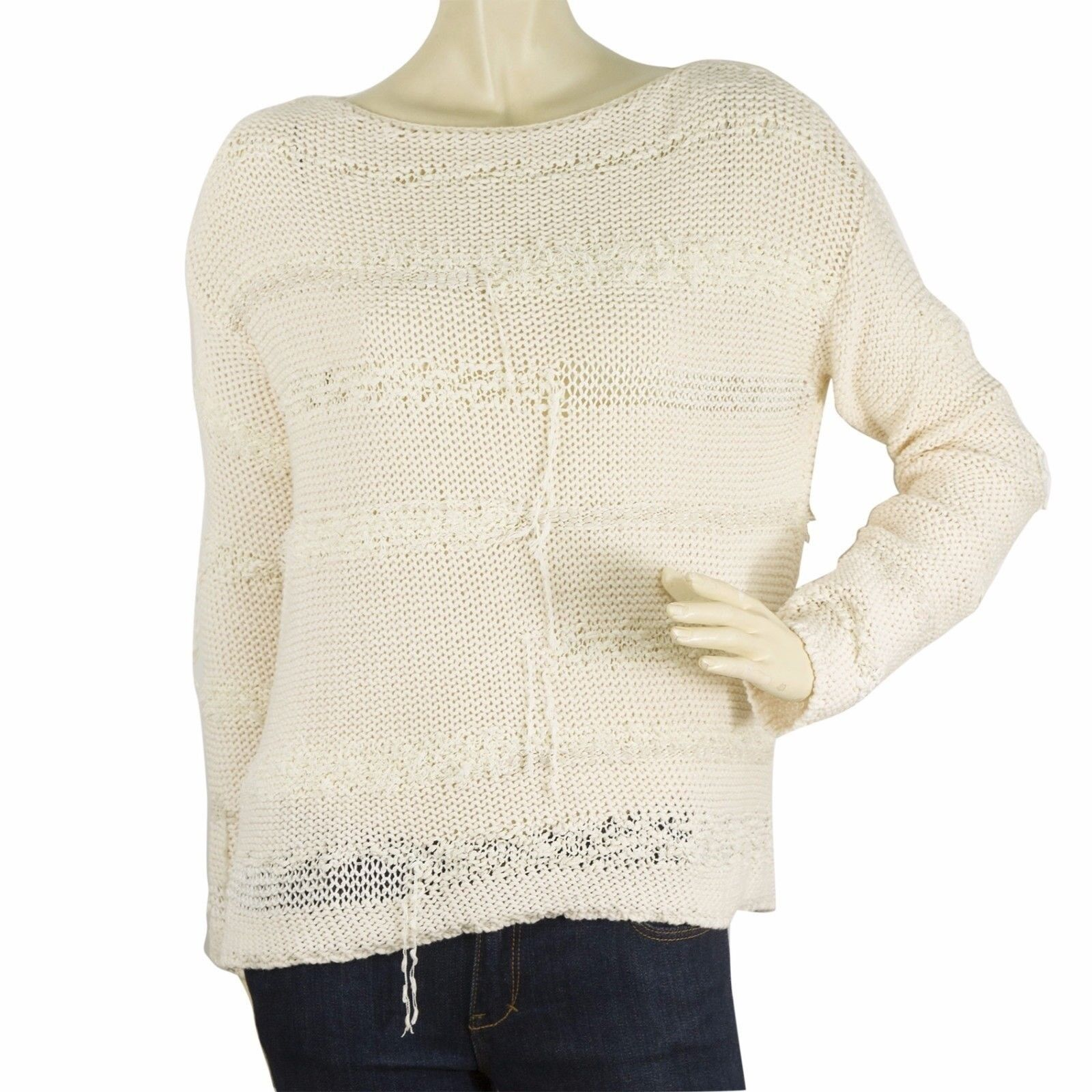 Zadig & Voltaire Deluxa line Cream Long sleeve knit blouse S master deluxe mix S