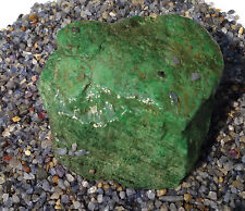 Burmese Maw Sit Sit Chromium Jade Natural Rough 2500 carats Myanmar Kryptonite