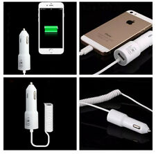 5V/2.1A Power USB Auto Car Charger with Coiled Spring USB Cable For iPhone 6 5s