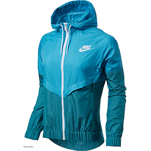 d9e97b56e7ad Nike Windrunner Women s Jacket L Blue Green Gym Casual Training ...