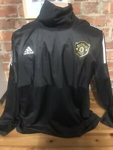 ADIDAS-Manchester-United-Man-Utd-TRAINING-NERO-CALCIO-Drill-Top-Adulto-2XL