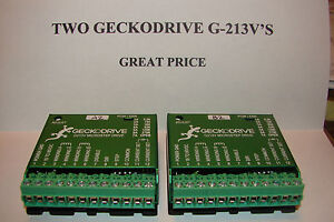 Details about 2 CNC GeckodriveG-213Vs+Extras Stepper motor Driver Gecko  Router Mill Microsteps