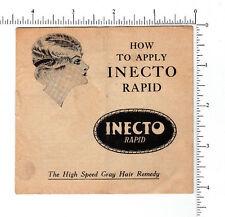 3673 Inecto High Speed Gray Hair Remedy c. 1920 booklet bob haircut