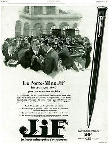 Publicite-ancienne-porte-mine-Jif-1928-issue-de-magazine