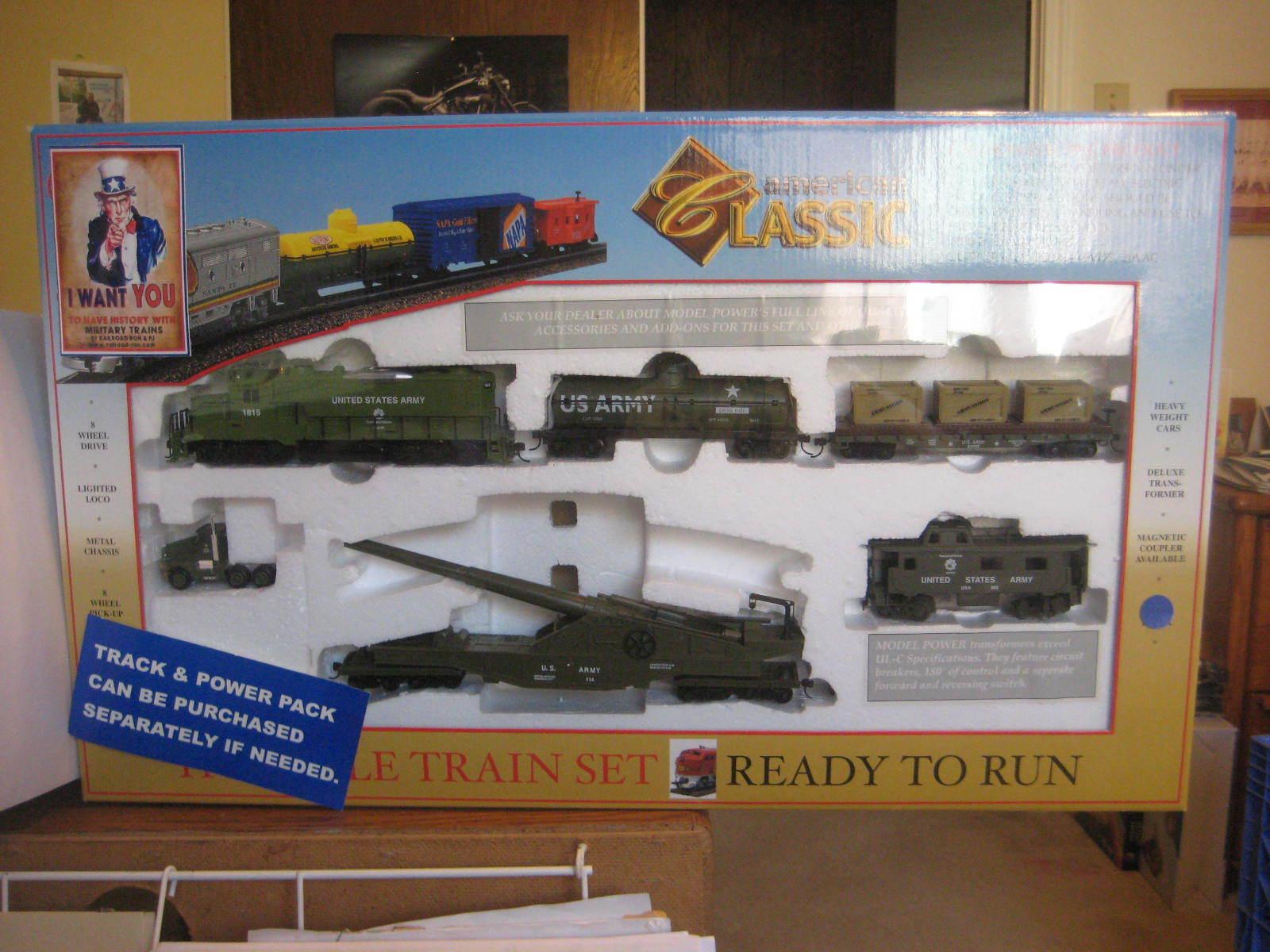HO TRAINS US ARMY GP20 AMERICAN CLASSIC TRAIN    SET 1028 US1 9dd577