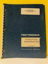 Tektronix 070 1431 00 Function Generator Fg 501 Instruction Manual