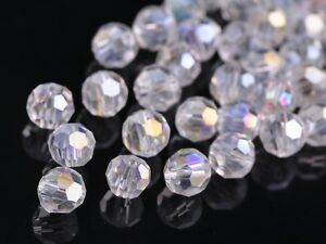 72pcs-8mm-Round-Faceted-Crystal-Glass-Jewelry-Charms-Loose-Spacer-Beads-Clear-AB