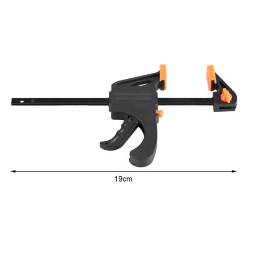 7.5 Inch Wood Working Bar F Clamp Grip Ratchet Release Squeeze DIY Hand Tool