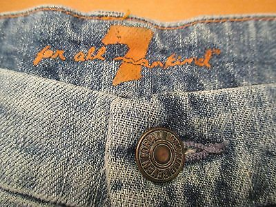 elefante Injusto Claire  AUTHENTIC 7 FOR ALL MANKIND MILAN A POCKET FLARE LEG WOMEN JEANS SIZE 29 X  33 | eBay