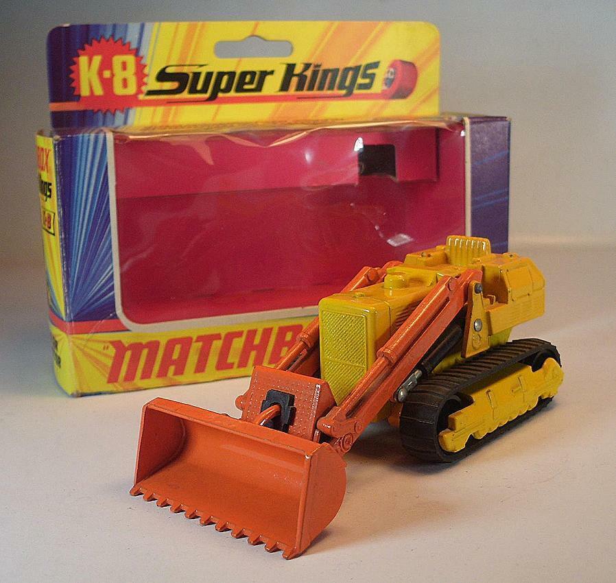 MatchBox Super Kings K-8 Caterpillar Traxcavator gelb Orange OVP  644