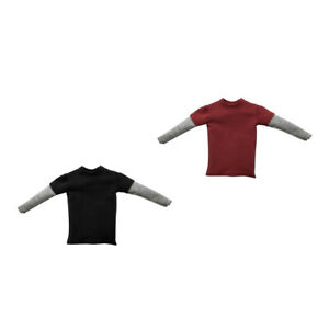 1-6-Scale-T-shirt-Outfit-For-12-034-HT-PH-Male-Action-Figure-Body-Toy-2pcs-set