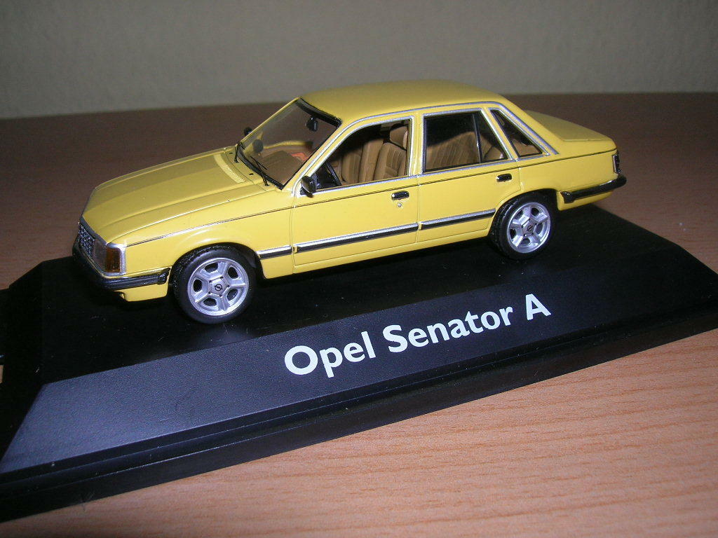 Schuco Opel Senator a Jamaican Yellow, 1 43 Limited Edition