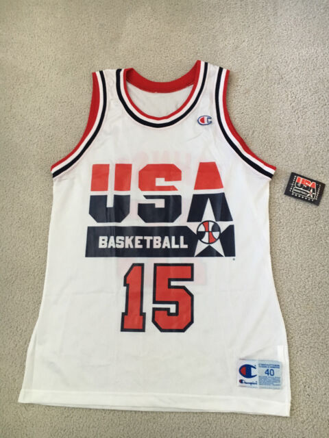 best service 8a4c2 29dee *NEW* 1992 Olympic USA Dream Team Magic Johnson Champion Jersey Size 40  with Tag