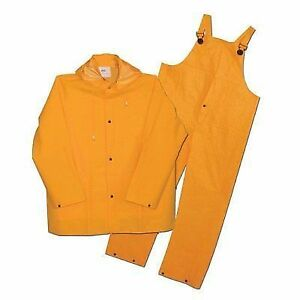 7689c92292d Boss 3pr0300yg Rainsuit Rain Jacket Bib XXXL 35 Mil 3 PC Commercial Yellow