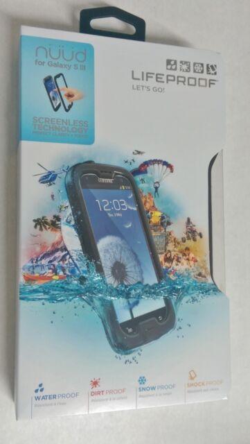 New Lifeproof Waterproof nuud Phone Case Cover for Samsung Galaxy S3 III - Black