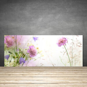 k chenr ckwand aus glas esg spritzschutz 125x50cm blumen pflanzen ebay. Black Bedroom Furniture Sets. Home Design Ideas