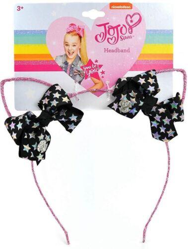 NWT Jojo Siwa Glitter Cat Ears With Mini Bows Headband
