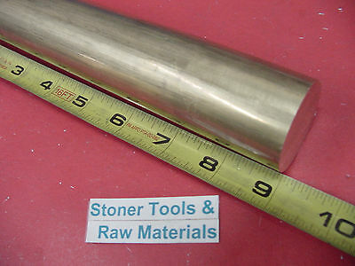 "1-1/2"" C360 BRASS ROUND ROD 9"" long Solid 1.50"" OD H02 Lathe Bar Stock"