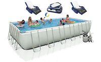 Intex 24' X 12' X 52 Ultra Frame Rectangular Swimming Pool Set | 28361eh on sale