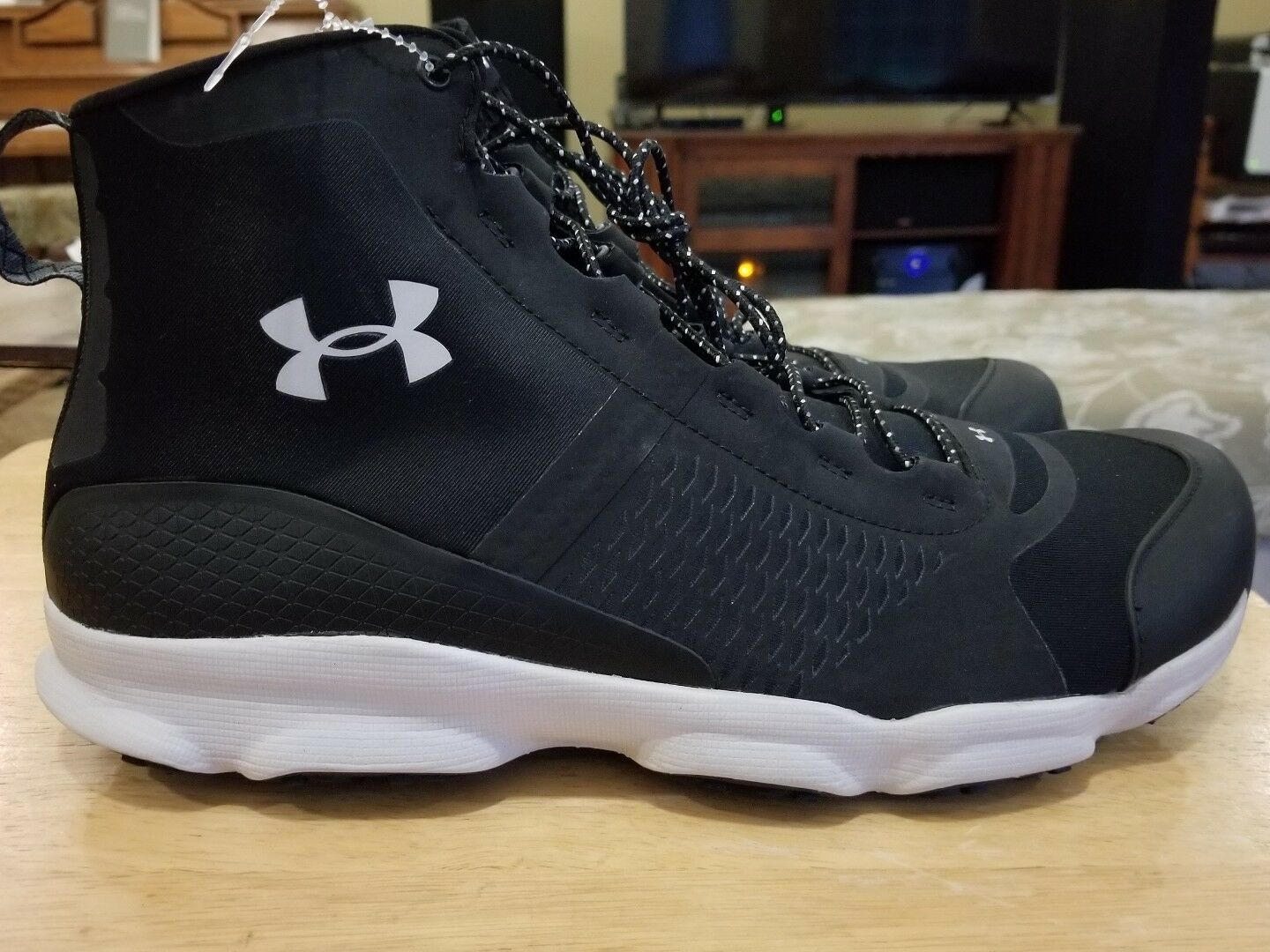 Under Armour 1257447-005 UA Men's SpeedFit Hike MID Boots Black Smoke 13
