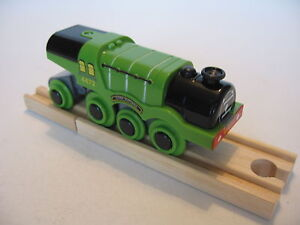 Motorised-Battery-FLYING-SCOTSMAN-Train-Engine-Wooden-Track-Brio-Thomas-NEW