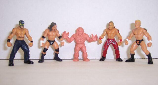Loose 2006 Jakk's Micro Aggression 4pc Action Figure Set HBK- Mysterio WWE [363]