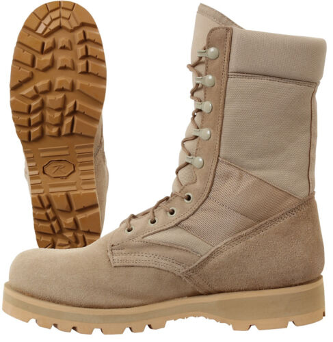 GI Type Desert Tan Boot Military Tactical Men/'s Work Boot with Sierra Lug Sole