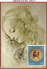 ITALIA MAXIMUM MAXI CARD LORENZO MEDICI MAGNIFICO DISEGNO FIORENTINO 1992 C588