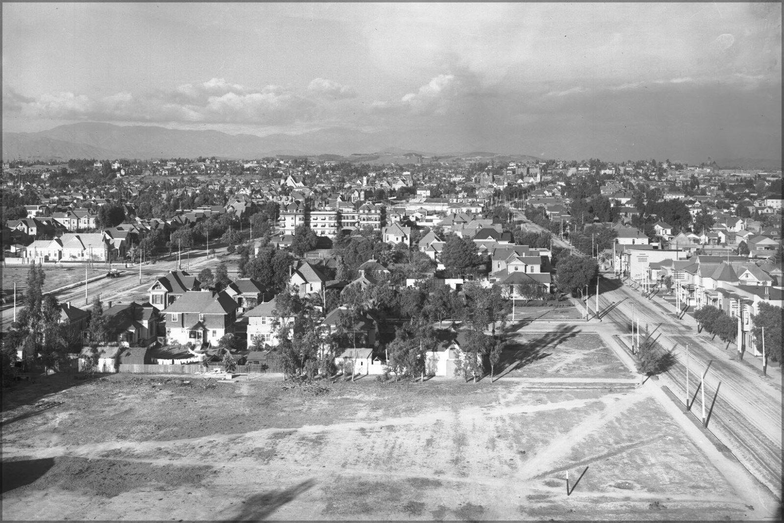 Plakat, Viele Größen; Panoramisch View Of Innenstadt Los Angeles von St.