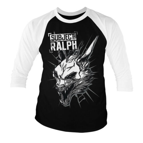 Subject Ralph 3//4 Sleeve Baseball T-Shirt S-XXL Officially Licensed Rampage