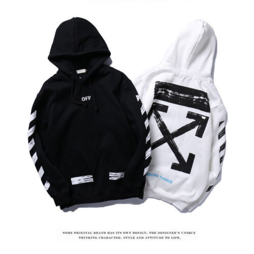 2020 Off White Hoodie Graffiti Pfeil Skizze Diagonale Streifen Sweatshirt