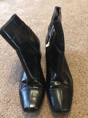 (363) Negro Tobillo Botas Talla 8 de Footglove en muy buen estado