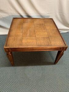 Details About Vintage Henredon Distressed Quartered Oak Wood End Coffee Table Fine Furniture