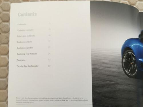 PORSCHE MACAN S TURBO PRESTIGE BROCHURE /& EXCLUSIVE OPTIONS BROCHURE SET 2014-15