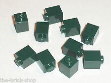 LEGO neuf / NEW DkGreen bricks 1x1 ref 3005 / set 10184 21005 10185 21006 7930