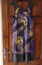 TED BAKER Floral/ Moonlight SILK Dress. UK 12 Size 3. Blue. Wedding, Races BNWT